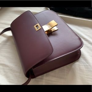 Celine Classic Box Medium - Burgundy